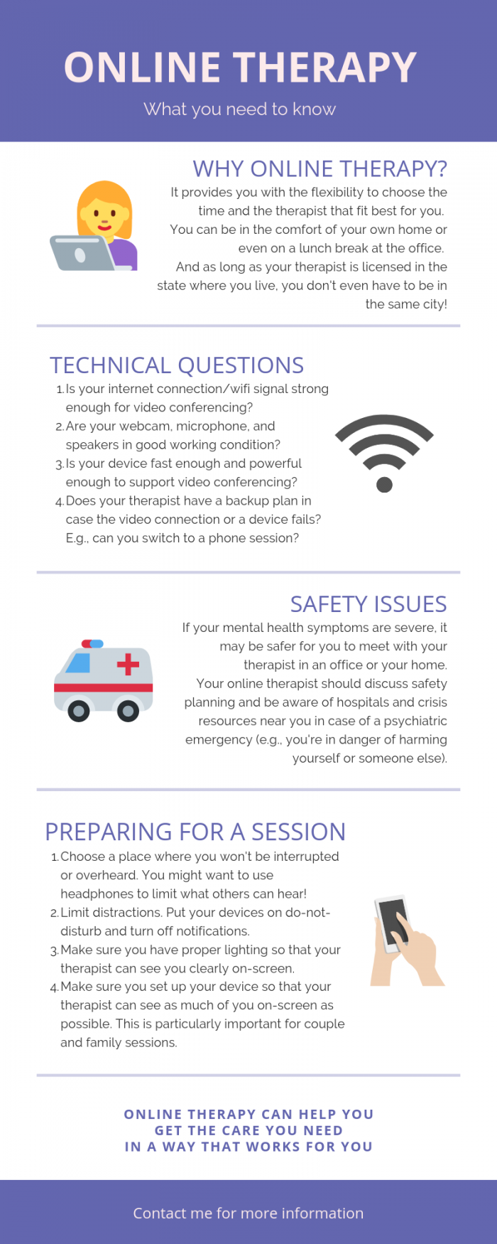 online therapy infographic